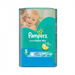 Pampers - Pack 11 Couches Active Baby Dry taille 5 sur Les Couches