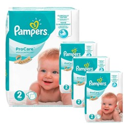Pampers - Mega pack 144 Couches ProCare Premium protection taille 2