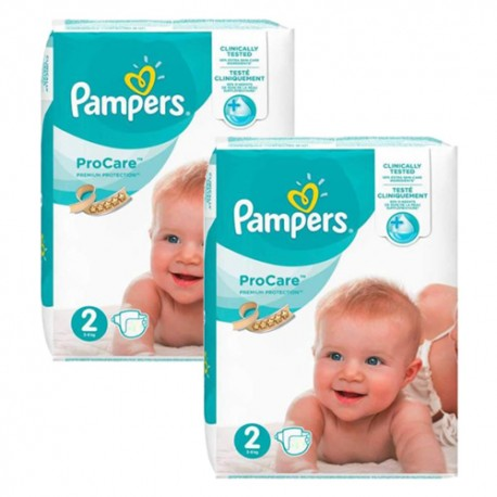 Pampers - Giga pack 216 Couches ProCare Premium protection taille 2 sur Les Couches