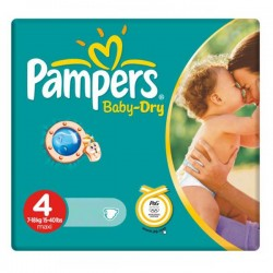 Pampers - 44 Couches Baby Dry taille 4