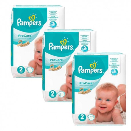 Pampers - Maxi giga pack 324 Couches ProCare Premium protection taille 2 sur Les Couches