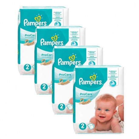 Pampers - Maxi giga pack 396 Couches ProCare Premium protection taille 2 sur Les Couches