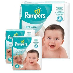 Pampers - Pack 64 Couches ProCare Premium protection taille 3 sur Les Couches
