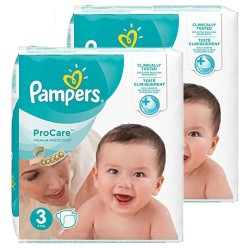 Pampers - Mega pack 128 Couches ProCare Premium protection taille 3 sur Les Couches