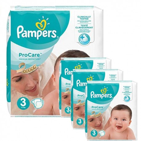 Pampers - Giga pack 256 Couches ProCare Premium protection taille 3 sur Les Couches