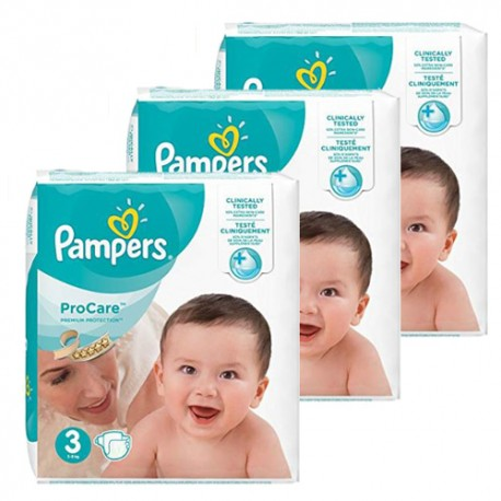 Pampers - Maxi giga pack 384 Couches ProCare Premium protection taille 3 sur Les Couches