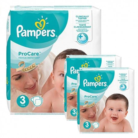 Pampers - Maxi mega pack 480 Couches ProCare Premium protection taille 3 sur Les Couches