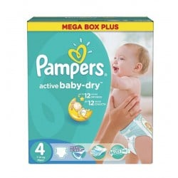 Pampers - 299 Couches Active Baby Dry taille 4 sur Les Couches