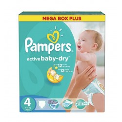 Pampers - 325 Couches Active Baby Dry taille 4 sur Les Couches