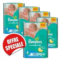 Pampers - Maxi mega pack 455 Couches Active Baby Dry taille 4