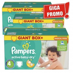 Pampers - 520 Couches Active Baby Dry taille 4 sur Les Couches