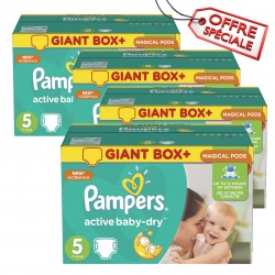 Pampers - Mega pack 110 Couches Active Baby Dry taille 5