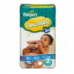 Pampers - Pack 82 Couches New Baby Premium Protection taille 2 sur Les Couches