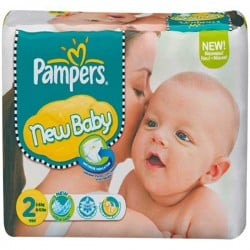 Pampers - Mega pack 164 Couches New Baby Premium Protection taille 2 sur Les Couches