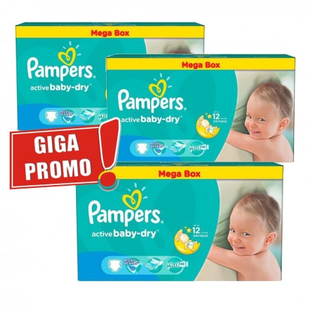 Pampers - 187 Couches Active Baby Dry taille 5 sur Les Couches