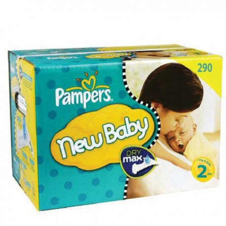 Pampers - Maxi mega pack 410 Couches New Baby Premium Protection taille 2 sur Les Couches