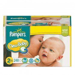 Pampers - Pack jumeaux 574 Couches New Baby Premium Protection taille 2 sur Les Couches
