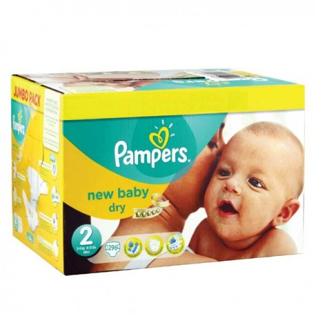 Pampers - Pack jumeaux 820 Couches New Baby Premium Protection taille 2 sur Les Couches