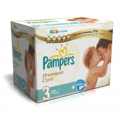 Pampers - Pack 40 Couches Premium Care taille 3 sur Les Couches