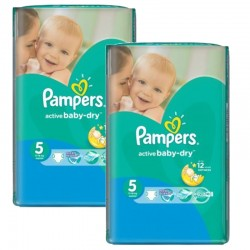 Pampers - Pack jumeaux 506 Couches Active Baby Dry taille 5