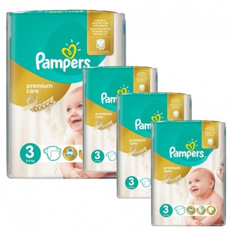 Pampers - Mega pack 100 Couches Premium Care taille 3 sur Les Couches