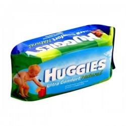 Huggies - 64 Lingettes Bébés Ultra Confort Natural sur Les Couches