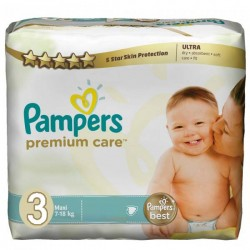 Pampers - Mega pack 180 Couches Premium Care taille 3