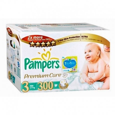 Pampers - Giga pack 220 Couches Premium Care taille 3 sur Les Couches