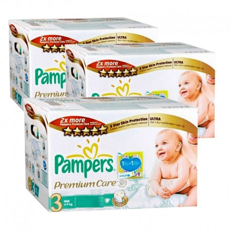 Pampers - Maxi giga pack 320 Couches Premium Care taille 3 sur Les Couches