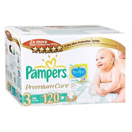 Pampers - Maxi giga pack 340 Couches Premium Care taille 3 sur Les Couches