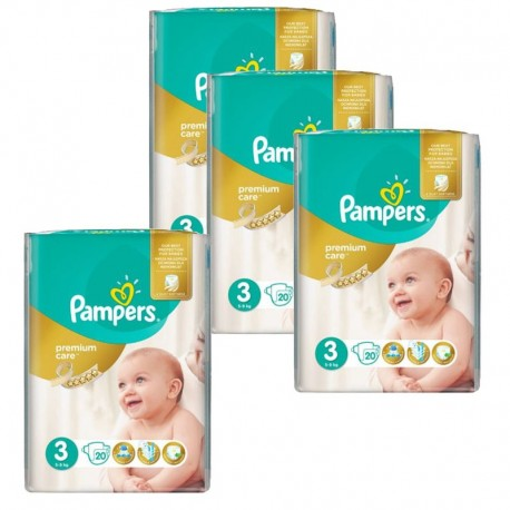Pampers - Maxi giga pack 360 Couches Premium Care taille 3 sur Les Couches
