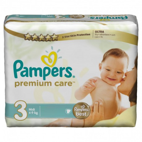 Pampers - Maxi giga pack 380 Couches Premium Care taille 3 sur Les Couches