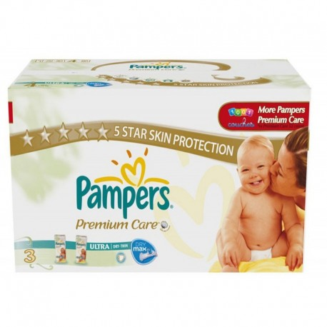 Pampers - Maxi mega pack 400 Couches Premium Care taille 3 sur Les Couches