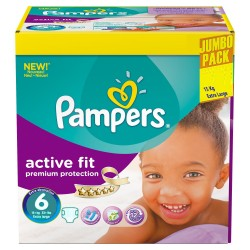 Pampers - Giga pack 256 Couches Active Fit taille 6 sur Les Couches