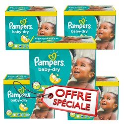 Pampers - Mega pack 150 Couches Baby Dry taille 5+ sur Les Couches