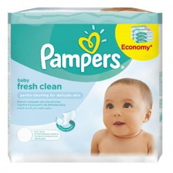 Pampers - 384 Lingettes Bébés Fresh Clean - 6 Packs de 64 sur Les Couches