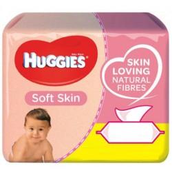 Huggies - Mega pack 168 Lingettes Bébés Soft Skin sur Les Couches