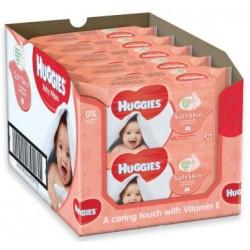 Maxi giga pack 392 Lingettes Bébés Huggies Soft Skin sur Les Couches