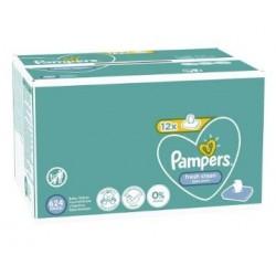 Pampers - Maxi mega pack 416 Lingettes Bébés Fresh Clean sur Les Couches