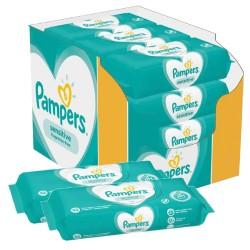 Pampers - Maxi giga pack 364 Lingettes Bébés Sensitive sur Les Couches