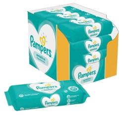 Pampers - Pack jumeaux 728 Lingettes Bébés Sensitive sur Les Couches