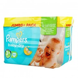 Pampers - 82 Couches Baby Dry taille 3+