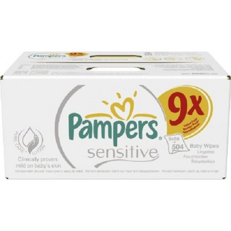 24 Packs De 12 Pampers 288 Lingettes B/éb/és Sensitive