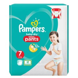 Pampers - Pack 29 Couches Baby Dry Pants taille 7 sur Les Couches
