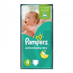 Pampers - Pack 62 Couches Active Baby Dry taille 4 sur Les Couches