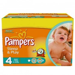 Pampers - Maxi giga pack 340 Couches Sleep & Play taille 4