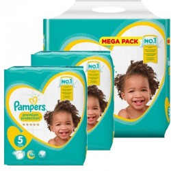 Pampers - Maxi mega pack 408 Couches New Baby Premium Protection taille 5