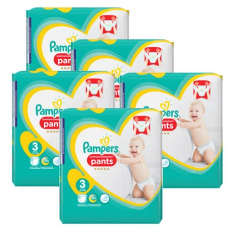 Pampers - 210 Couches Premium Protection Pants taille 3 sur Les Couches