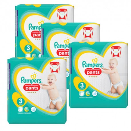 Pampers - Maxi giga pack 385 Couches Premium Protection Pants taille 3 sur Les Couches