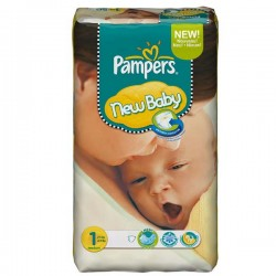 Pampers - 172 Couches New Baby Dry taille 1 sur Les Couches